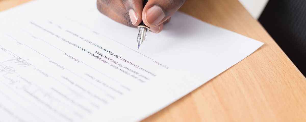 Signing escrow documents